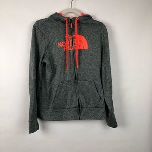 The North Face Gray Zipper Hoodie Women's M